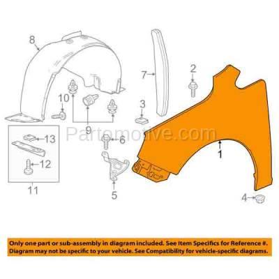 Aftermarket Replacement - FDR-1797L 12-16 Verano Front Fender Quarter Panel Left Hand Driver Side GM1240375 22905632 - Image 3