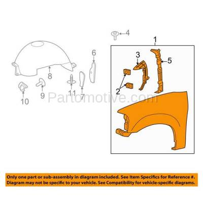 Aftermarket Replacement - FDR-1266L 07-14 Expedition Front Fender Quarter Panel Driver Side LH FO1240255 FL1Z16006A - Image 3