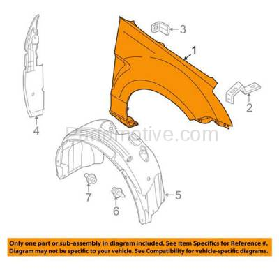 Aftermarket Replacement - FDR-1320R 08-11 Focus Front Fender Quarter Panel Right Passenger Side FO1241266 8S4Z16005B - Image 3