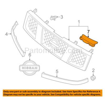 Aftermarket Replacement - RSP-1599R 2004-2015 Nissan Armada & Titan Pickup Truck (5.6 Liter V8 Engine) Front Radiator Support Grille Air Deflector Plastic Right Passenger Side - Image 3