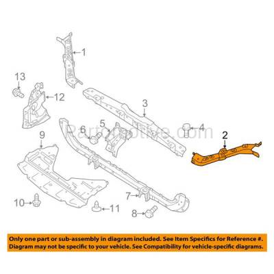 Aftermarket Replacement - RSP-1631L 2014-2018 Nissan Rouge (S, SL, SV & Hybrid) Front Radiator Support Upper Tie Bar Bracket Panel Primed Made of Steel Left Driver Side - Image 3