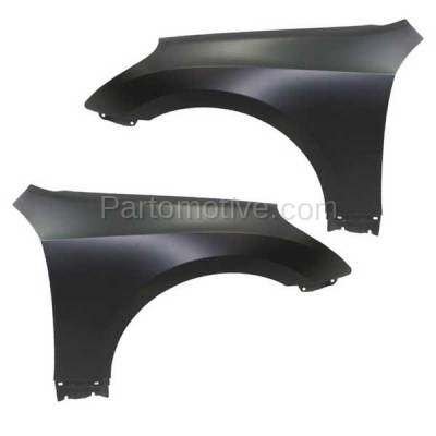 Aftermarket Replacement - FDR-1252LC & FDR-1252RC CAPA Front Fender Quarter Panel For 11-16 Equus Left Right Side SET PAIR - Image 1