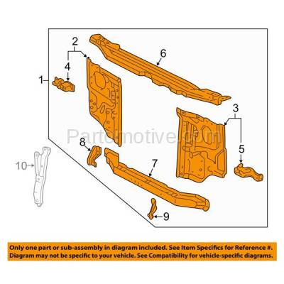 Aftermarket Replacement - RSP-1797 TACOMA 01-04 Radiator Support, Assembly, Black, Steel, From 5-01 TO1225230 - Image 3