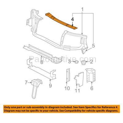 Aftermarket Replacement - RSP-1253 2004-2007 Buick Rainier & 2002-2009 Chevy Trailblazer & 2003-2008 Isuzu Ascender & 2005-2009 Saab 9-7x Front Radiator Support Upper Tie Bar - Image 3