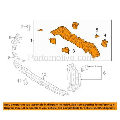 Aftermarket Replacement - RSP-1829 2014 Toyota Yaris (CE, L, LE, SE) Hatchback 1.5L (For Models Made in France) Front Radiator Support Upper Crossmember Tie Bar Steel - Image 3
