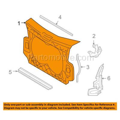 Aftermarket Replacement - RSP-1022 2005-2011 Audi A6 Quattro (Sedan 4-Door) 4.2L Front Center Radiator Support Core Panel Assembly Primed Made of Plastic & Steel - Image 3
