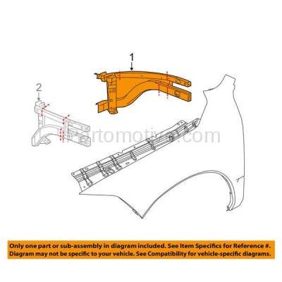 Aftermarket Replacement - RSP-1122R 2009-2018 Ram 1500 Pickup Truck (Extended & Crew Cab) Front Radiator Support Outer Brace Rail Panel Made of Steel Right Passenger Side - Image 3