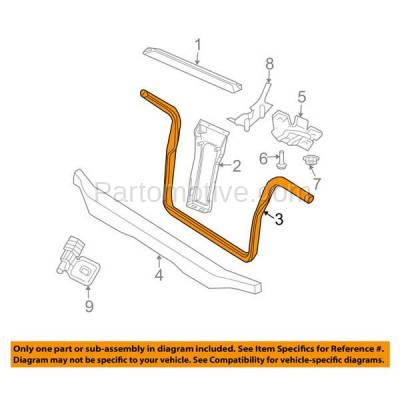 Aftermarket Replacement - RSP-1110 2002-2007 Jeep Liberty (2.4 & 2.8 & 3.7 Liter Engine) Front Radiator Support Lower Crossmember Tie Bar Primed Made of Steel - Image 3