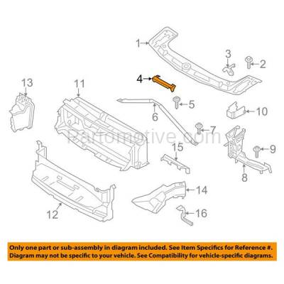 Aftermarket Replacement - RSP-1054 2012-2014 BMW 3-Series (Sedan/Wagon) & 2015-2017 2/4-Series (Convertible/Coupe) Front Radiator Support Core Center Upper Reinforcement Panel - Image 3
