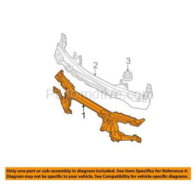 Aftermarket Replacement - RSP-1055 2000-2006 BMW X5 (3.0i, 4.4i, 4.6is, 4.8is) Front Center Radiator Support Core Assembly Upper Tie Bar Panel Primed Made of Steel - Image 3