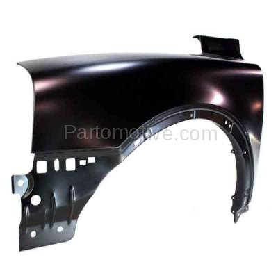Aftermarket Replacement - FDR-1830L 2003-2014 Volvo CX90 Front Fender Quarter Panel (with Mudguard Provision) without Side Marker Lamp Hole Steel Left Driver Side - Image 2