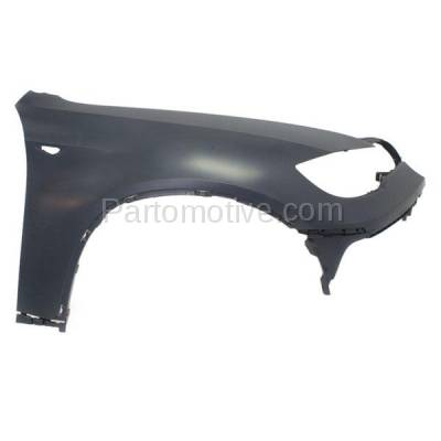 Aftermarket Replacement - FDR-1825R 2008-2014 BMW X6 (excluding M Models) Front Fender Quarter Panel (without Headlight Washer Hole) Primed Right Passenger Side - Image 1