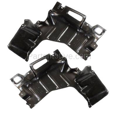 Aftermarket Replacement - ESS-1574L & ESS-1574R 01-03 Prius Front Engine Splash Shield Under Cover Undercar Left Right SET PAIR - Image 1