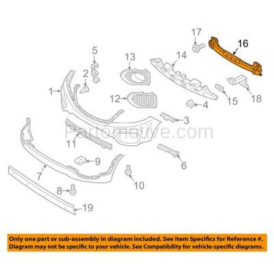 Aftermarket Replacement - BRF-1520FC 2011-2013 Kia Sorento (For Models without Sport Package) Front Bumper Impact Face Bar Crossmember Reinforcement Primed Steel - Image 3