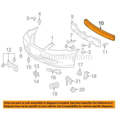 Aftermarket Replacement - BRF-1553FC 2007-2012 Lexus ES350 (3.5 Liter V6 Engine) (Sedan 4-Door) Front Bumper Impact Face Bar Crossmember Reinforcement Primed Steel - Image 3