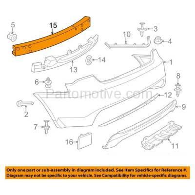Aftermarket Replacement - BRF-1127RC 2011-2014 Chrysler 200 & 2007-2010 Sebring & 2008-2014 Dodge Avenger Rear Bumper Impact Crossmember Reinforcement Primed Steel - Image 3