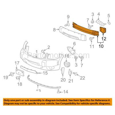 Aftermarket Replacement - BRF-1255FC 2006-2011 Chevrolet HHR (Wagon 2/4-Door) Front Bumper Impact Face Bar Crossmember Reinforcement Primed Made of Steel - Image 3