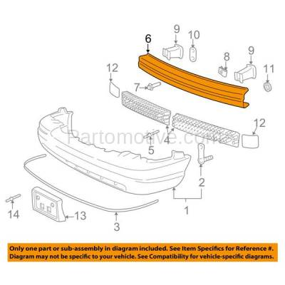 Aftermarket Replacement - BRF-1162FC 2005-2011 Ford Crow Victoria & Mercury Grand Marquis (Sedan 4-Door) Front Bumper Impact Crossmember Reinforcement Primed Steel - Image 3