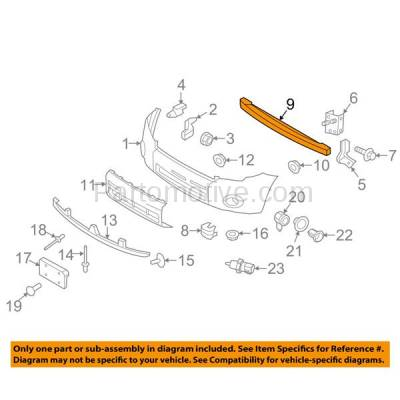 Aftermarket Replacement - BRF-1187FC 2001-2012 Ford Escape & 2005-2011 Mercury Mariner & 2001-2011 Mazda Tribute Front Bumper Impact Face Bar Crossmember Reinforcement Steel - Image 3