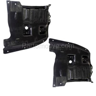 Aftermarket Replacement - ESS-1542L & ESS-1542R Front Engine Splash Shield Under Cover For 95-99 Maxima Left Right Side SET PAIR - Image 2