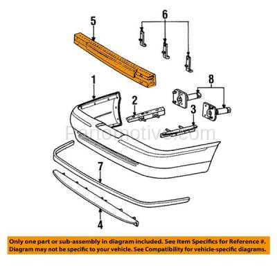 Aftermarket Replacement - BRF-1192RC 1998-2011 Ford Crown Victoria & Mercury Grand Marquis Rear Bumper Impact Face Bar Crossmember Reinforcement Primed Steel - Image 3