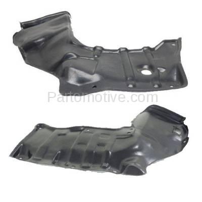 Aftermarket Replacement - ESS-1583L & ESS-1583R 88-92 Corolla Engine Splash Shield Under Cover w/Auto Trans. Left Right SET PAIR - Image 2
