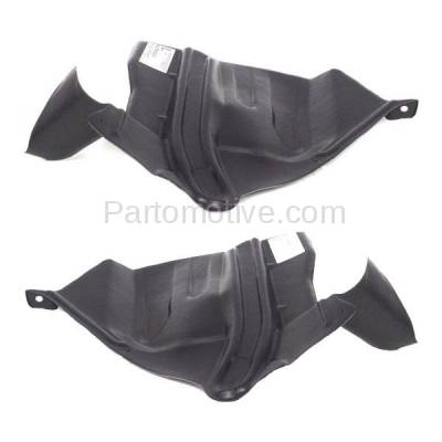 Aftermarket Replacement - ESS-1545L & ESS-1545R Front Engine Splash Shield Under Cover For 93-01 Altima Left Right Side SET PAIR - Image 3