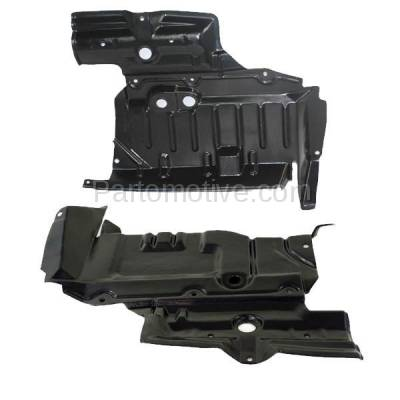 Aftermarket Replacement - ESS-1539L & ESS-1539R Front Engine Splash Shield Under Cover For 98-01 Altima Right Left Side SET PAIR - Image 2