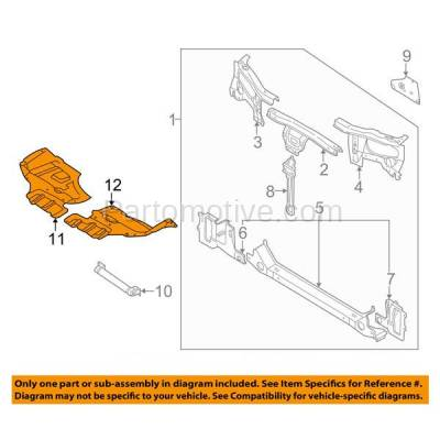 Aftermarket Replacement - ESS-1539L & ESS-1539R Front Engine Splash Shield Under Cover For 98-01 Altima Right Left Side SET PAIR - Image 3