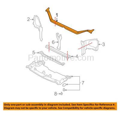 Aftermarket Replacement - RSP-1677 2002-2003 Subaru Impreza & Outback (Sedan & Wagon 4-Door) Front Radiator Support Upper Crossmember Tie Bar Primed Steel - Image 3