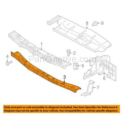 Aftermarket Replacement - RSP-1650 2012-2018 Nissan Versa 1.6L (S, S Plus, SL, SV) Sedan Front Radiator Support Lower Crossmember Tie Bar Panel Primed Made of Steel - Image 3