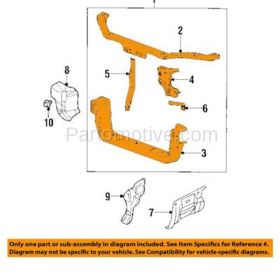Aftermarket Replacement - RSP-1574 1997-2001 Mitsubishi Mirage (DE, ES, LS) Coupe & Sedan (1.5 & 1.8 Liter Engine) Front Radiator Support Core Assembly Plastic with Steel - Image 3