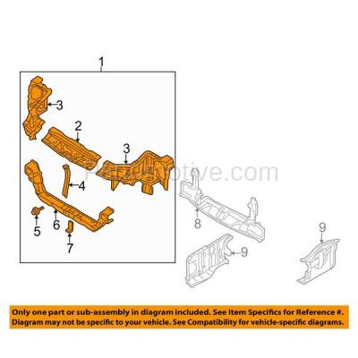 Aftermarket Replacement - RSP-1561 2000-2005 Mitsubishi Eclipse (Coupe, Convertible, Hatchback) (2.4 & 3.0 Liter Engine) Front Center Radiator Support Core Assembly Steel - Image 3