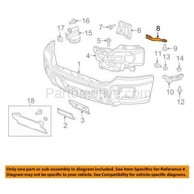 Aftermarket Replacement - BRT-1031FL & BRT-1031FR 2015-2019 Chevy Silverado & GMC Sierra Truck (2500HD/3500HD) Front Bumper Retainer Outer Brace Support Bracket Right & Left Side - Image 3