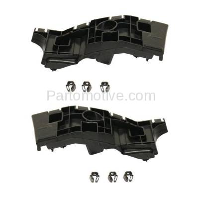 Aftermarket Replacement - BRT-1033FL & BRT-1033FR 14-15 Chevy Silverado 1500 Pickup Truck Front Upper Bumper Cover Retainer Mounting Brace Support Bracket Plastic SET PAIR Right Passenger & Left Driver Side - Image 2