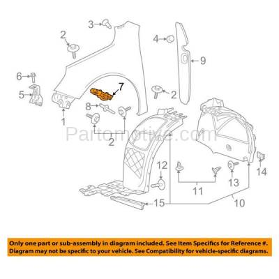 Aftermarket Replacement - BRT-1034FL & BRT-1034FR 2013-2015 Chevy Malibu & 2016 Chevrolet Malibu Limited Front Bumper Cover Retainer Mounting Brace Support Stiffener Rail Right & Left Side - Image 3