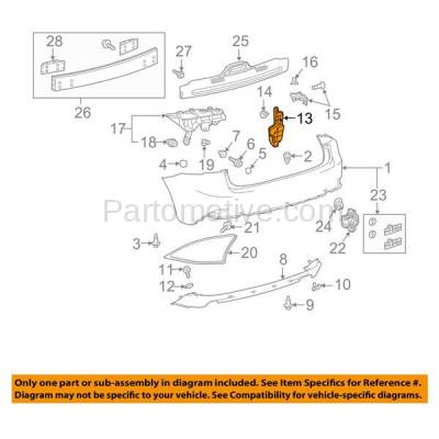 Aftermarket Replacement - BRT-1081RL & BRT-1081RR 2014-2018 Lexus IS250/IS300/IS350 Rear Bumper Cover Retainer Mounting Brace Reinforcement Inner Support Bracket  Right & Left Side - Image 3