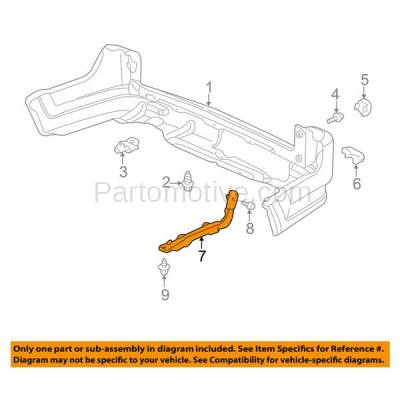 Aftermarket Replacement - BRT-1049RL & BRT-1049RR 02-06 CR-V Rear Bumper Cover Face Bar Spacer Retainer Mounting Brace Support Made of Plastic PAIR SET Right Passenger & Left Driver Side - Image 3