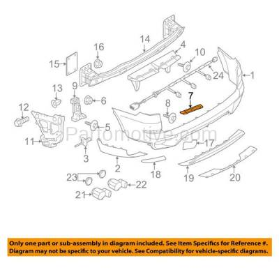 Aftermarket Replacement - BRT-1003RL & BRT-1003RR 11-13 X5 Rear Bumper Cover Retainer Mounting Brace Reinforcement Support SET PAIR Right Passenger & Left Driver Side Primed Plastic - Image 3