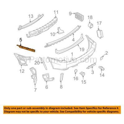 Aftermarket Replacement - BRT-1004RL & BRT-1004RR 04-10 X3 Rear Bumper Retainer Mounting Brace Reinforcement Stiffener Support SET PAIR Right Passenger & Left Driver Side Primed - Image 3