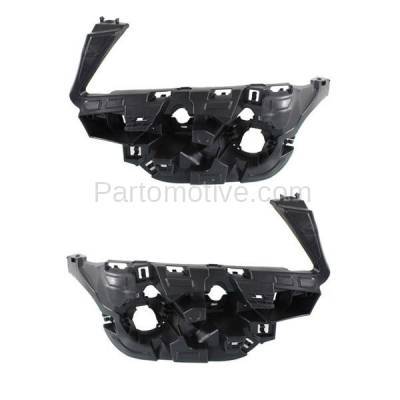 Aftermarket Replacement - BRT-1005FL & BRT-1005FR 11-14 X3 Front (without M Package) Bumper Retainer Mounting Brace Reinforcement Support Plastic Black SET PAIR Right Passenger & Left Driver Side - Image 1