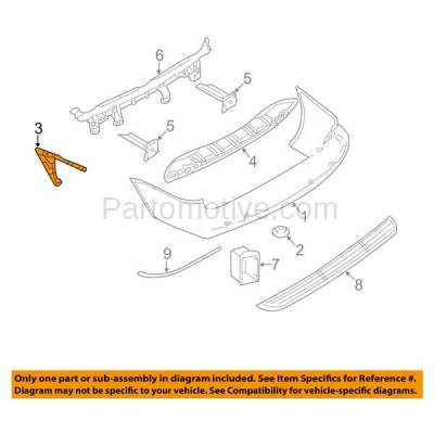 Aftermarket Replacement - BRT-1009RL & BRT-1009RR 01-07 Town & Country, Grand Caravan, Voyager Rear Bumper Retainer Mounting Brace Reinforcement Support SET PAIR Left Driver & Right Passenger Side - Image 3