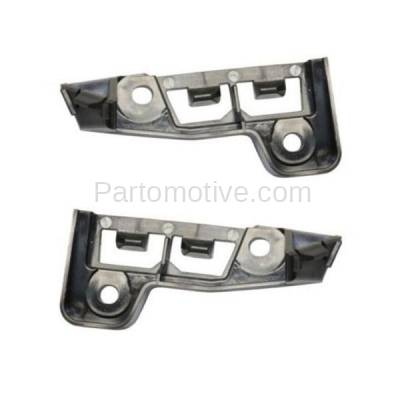 Aftermarket Replacement - BRT-1018FL & BRT-1018FR 2014-2018 Transit Connect Front Upper Bumper Cover Retainer Mounting Brace Reinforcement Support Primed SET PAIR Right & Left Side - Image 2