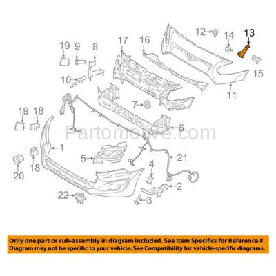 Aftermarket Replacement - BRT-1018FL & BRT-1018FR 2014-2018 Transit Connect Front Upper Bumper Cover Retainer Mounting Brace Reinforcement Support Primed SET PAIR Right & Left Side - Image 3