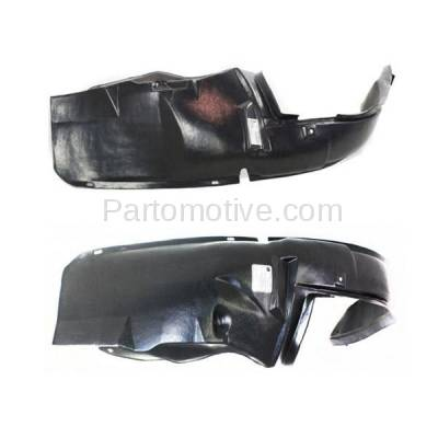Aftermarket Replacement - IFD-1165L & IFD-1165R 02-04 Neon Front Splash Shield Inner Fender Liner Panel Left Right Side SET PAIR - Image 2