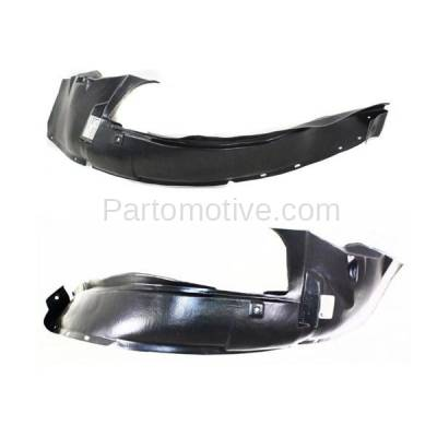 Aftermarket Replacement - IFD-1165L & IFD-1165R 02-04 Neon Front Splash Shield Inner Fender Liner Panel Left Right Side SET PAIR - Image 3