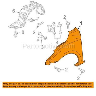 Aftermarket Replacement - FDR-1478R 10-13 Mazda3 Hatchback Front Fender Quarter Panel Right Side MA1241161 BBY45211Y - Image 3