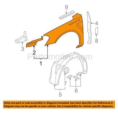Aftermarket Replacement - FDR-1446L 06-11 Lucerne CX/CXL Front Fender Quarter Panel Driver Side GM1240331 25833737 - Image 3