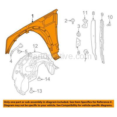 Aftermarket Replacement - FDR-1443L 10-16 LR4 Front Fender Quarter Panel Left Driver Side Steel RO1240104 LR056240 - Image 3
