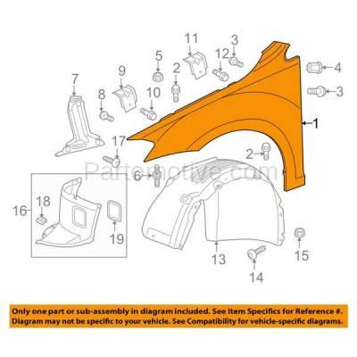 Aftermarket Replacement - FDR-1359R 15-16 VW Golf Front Fender Quarter Panel Passenger Side RH VW1241148 5G0821106A - Image 3
